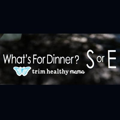 "Trim Healthy Mama Vinyl Window Decal - ""What's For Dinner"""