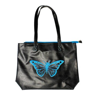 Trim Healthy Mama THM Butterfly Tote Bag - Blue