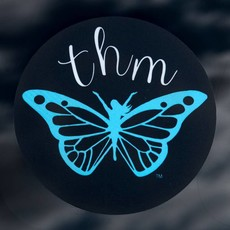 "Trim Healthy Mama Vinyl 4"" Round ""THM Logo"" Sticker"