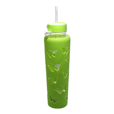 Trim Healthy Mama THM Butterfly Sipper Jar 32 oz. - Green