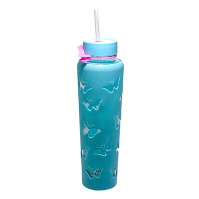 Trim Healthy Mama THM Butterfly Sipper Jar 32 oz. - Blue