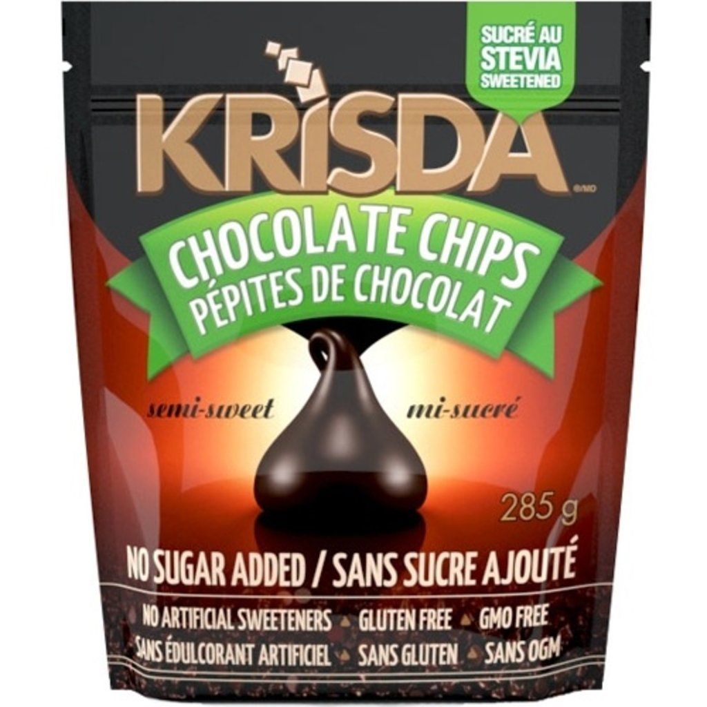 Krisda Krisda Semi-Sweet Stevia Chocolate Chips (285 g)