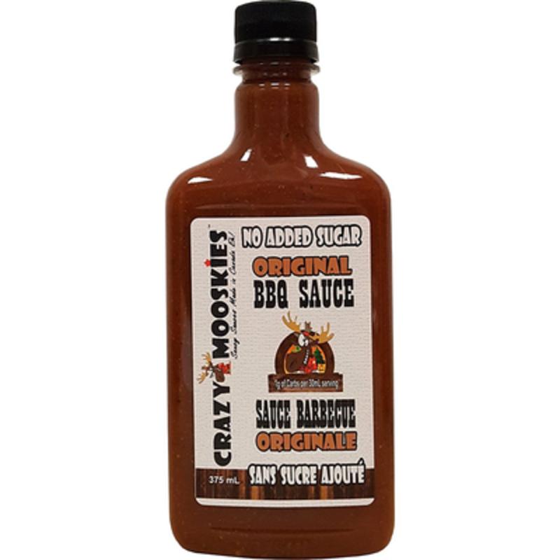 Crazy Mooskies Crazy Mooskies No Added Sugar BBQ Sauce - Original (375 ml)