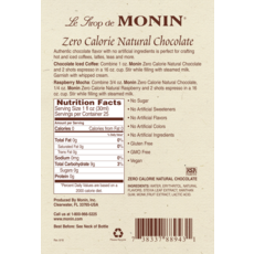 Monin Monin Zero Calorie Chocolate Syrup - 750 ml