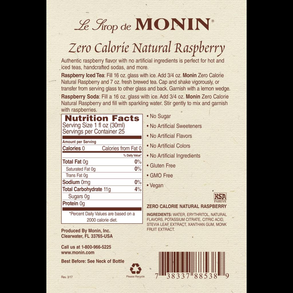 Monin Monin Zero Calorie Raspberry Syrup - 750 ml