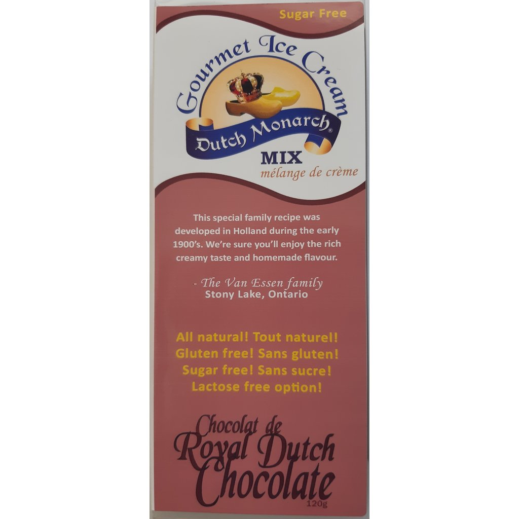 Dutch Monarch Gourmet Ice Cream Mix - Royal Dutch Chocolate (6 oz.)