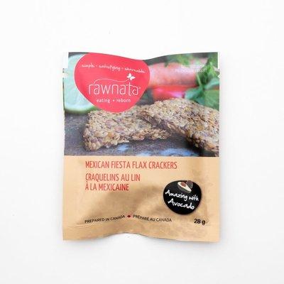 Rawnata Rawnata Organic Flax Crackers - Mexican Fiesta - Snack Size (28 g)