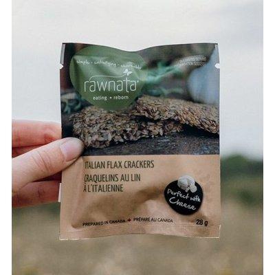 Rawnata Rawnata Organic Flax Crackers - Italian - Snack Size (28 grams)