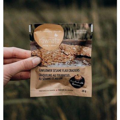 Rawnata Rawnata Organic Flax Crackers - Sunflower Sesame - Snack Size (28 g)