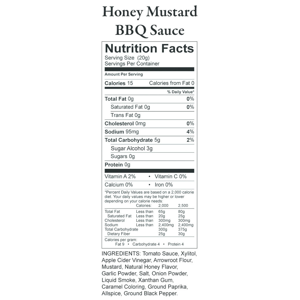 Nature's Hollow Honey Mustard Sugar-Free BBQ Sauce - 12 oz.