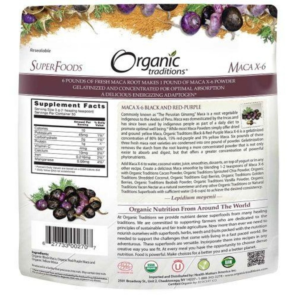 Organic Traditions Organic Maca Powder - 5.3 oz. (150 g)