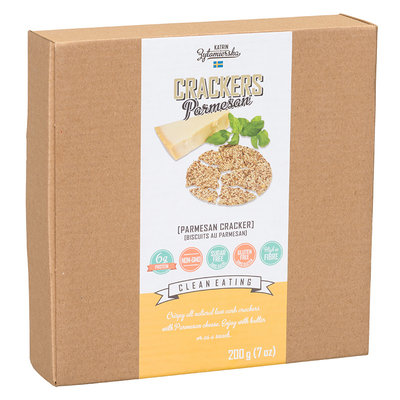 KZ Clean Eating High Fibre Scandinavian Cracker – Parmesan