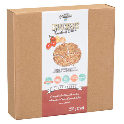 KZ Clean Eating High Fibre Scandinavian Cracker – Tomato & Onion