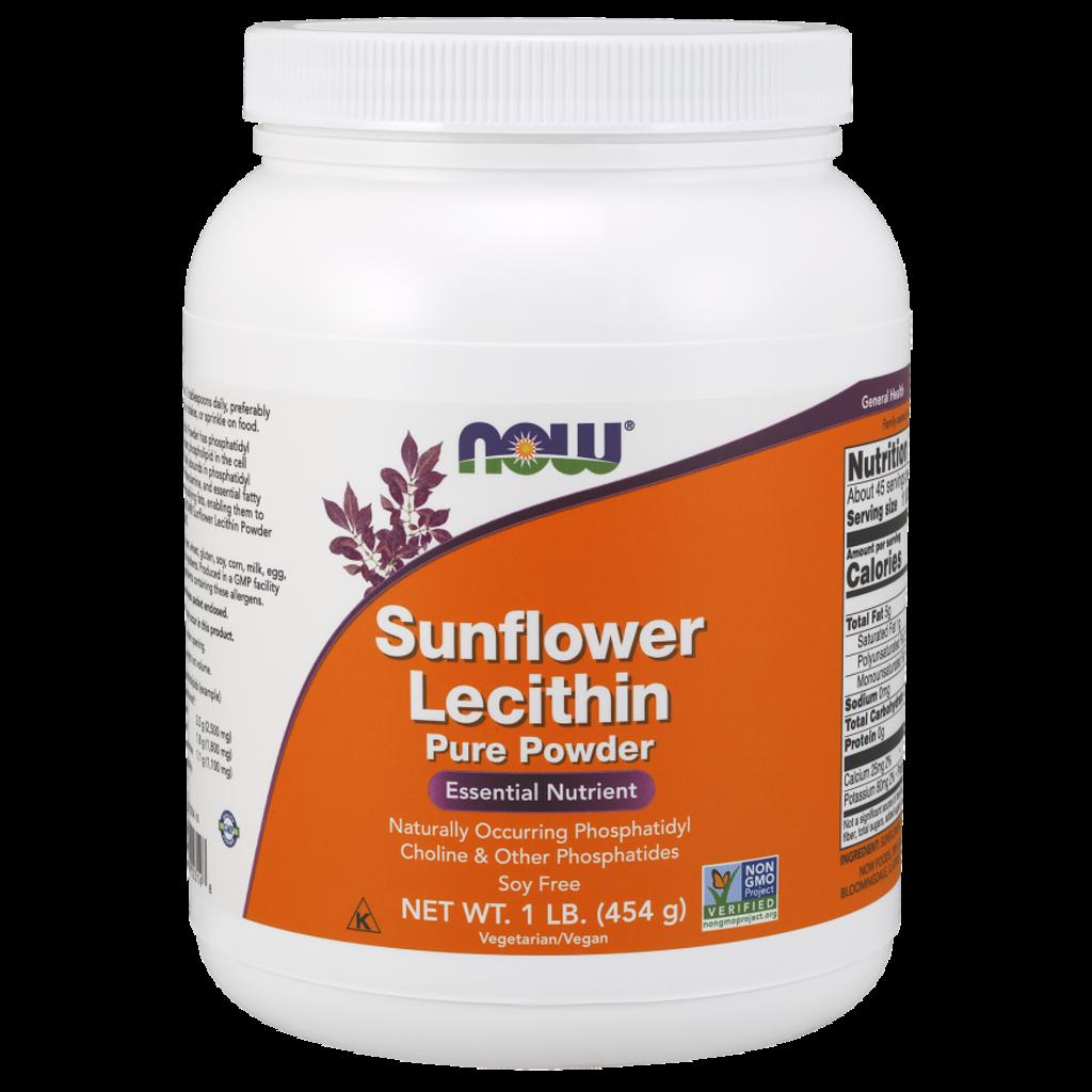 NOW NOW Sunflower Lecithin Powder (454g)