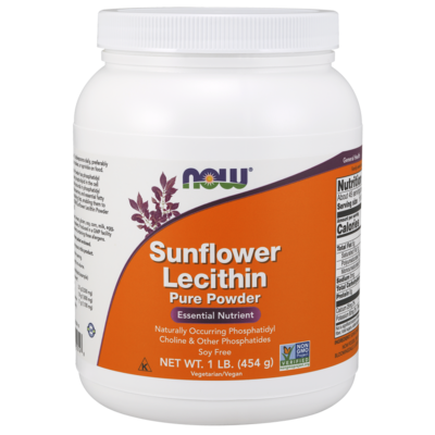 NOW NOW Sunflower Lecithin Powder (454g)