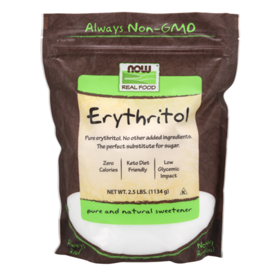 NOW NOW Erythritol Sweetener (2.5 lbs.)