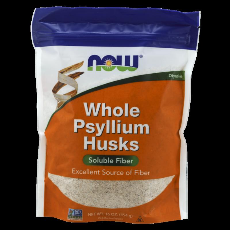 NOW NOW Whole Husk Psyllium (1 lb.)