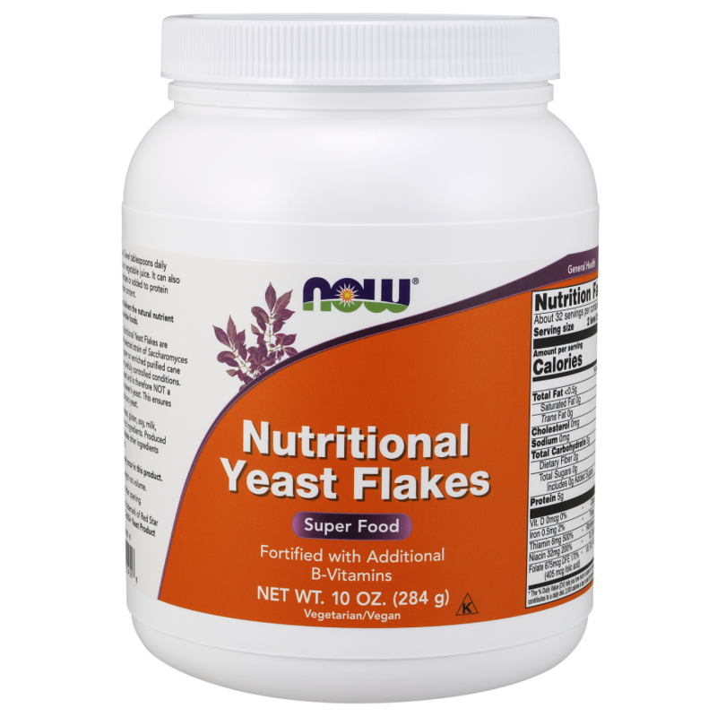 NOW Nutritional Yeast Flakes - 10 oz. (284 g)