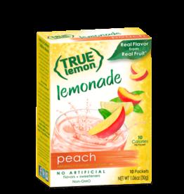 True Citrus True Lemon Drink Mix, Peach Lemonade - 10 pk