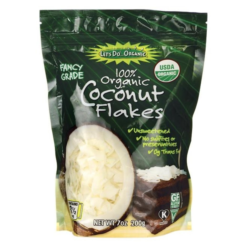 Organic Large Coconut Flakes - 200g