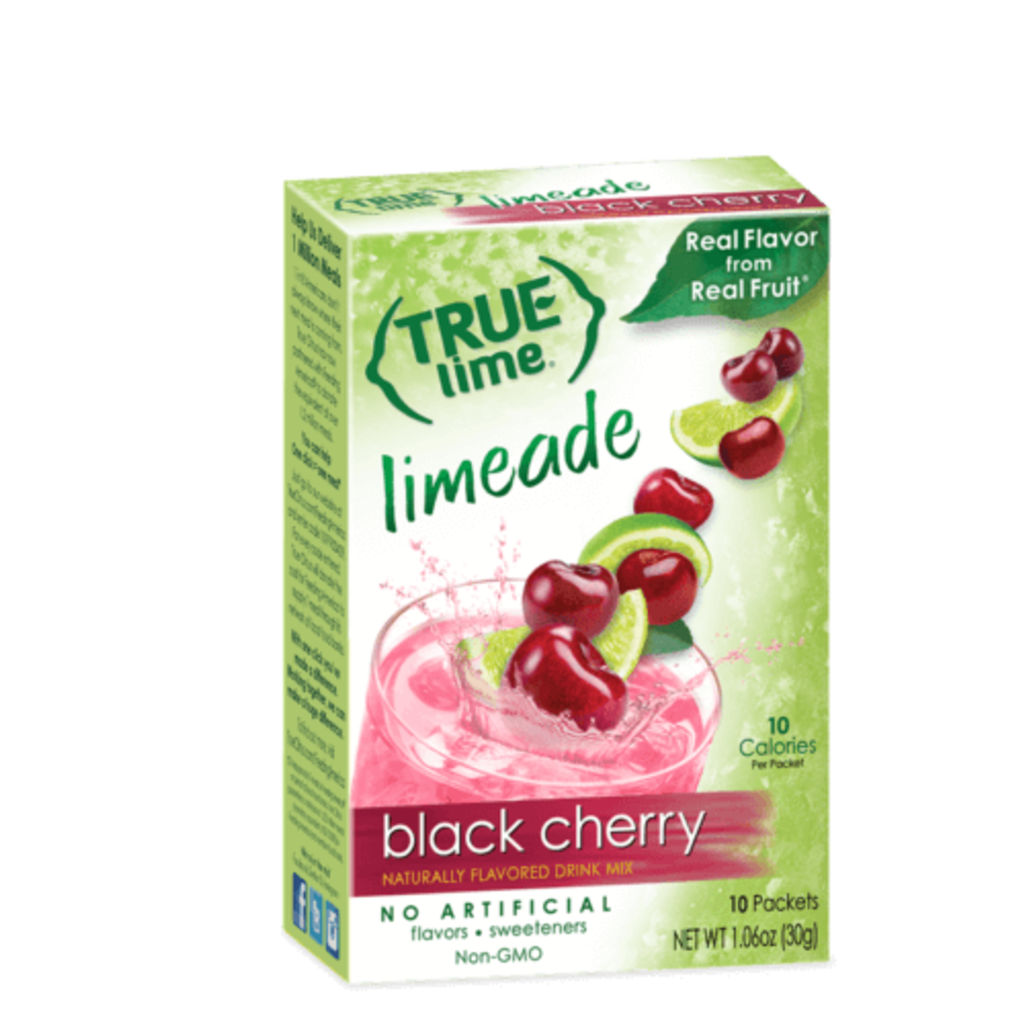 True Citrus True Lime Drink Mix, Black Cherry Limeade - 10 pk
