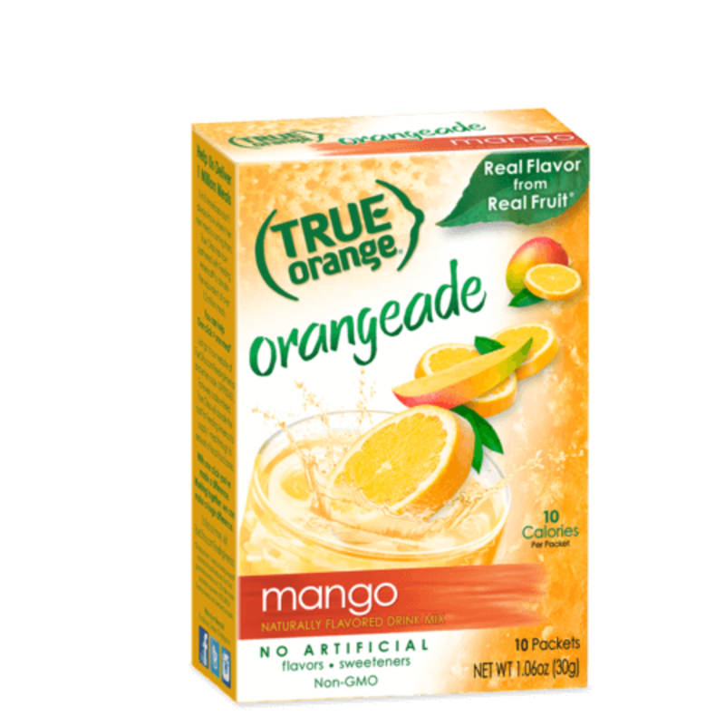 True Citrus True Orange Drink Mix, Mango Orange - 10 pk