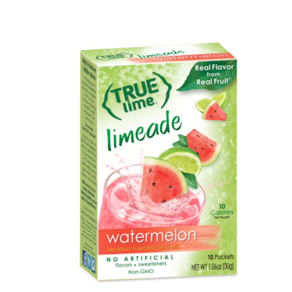 True Citrus True Lime Drink Mix, Watermelon Aqua Fresca - 10 pk