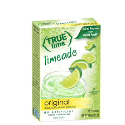 True Citrus True Lime Drink Mix, Limeade - 10 pk
