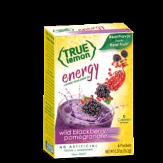 True Citrus True Lemon Energy Wild Blackberry Pomegranate (6-count)