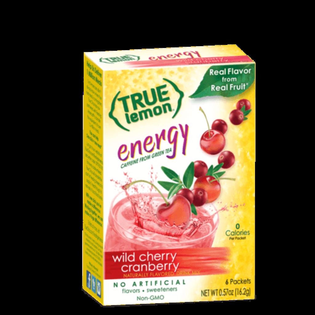 True Citrus True Lemon Energy Wild Cherry Cranberry (6-count)