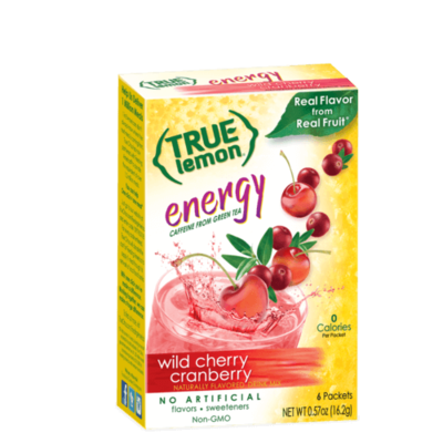 True Citrus True Lemon Energy Wild Cherry Cranberry (6-count)