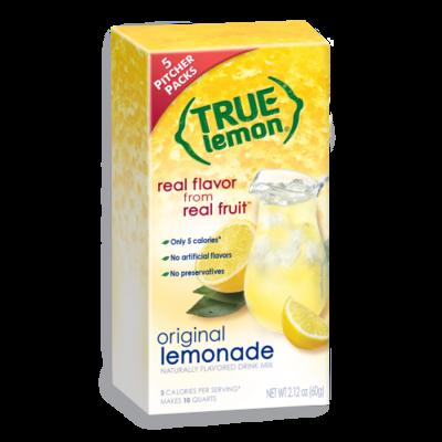 True Citrus True Lemon Drink Mix, Original Lemonade - 2-Quart Pitcher Size