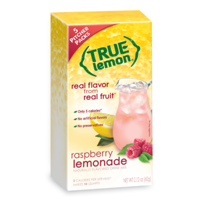 True Citrus True Lemon Drink Mix, Raspberry Lemonade - 2-Quart Pitcher Size