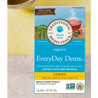 Traditional Medicinals Traditional Medicinals Tea - Organic Lemon Everyday Detox (20 bags)