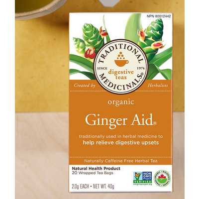 Traditional Medicinals Traditional Medicinals Tea - Ginger Aid Tea (20 bags)
