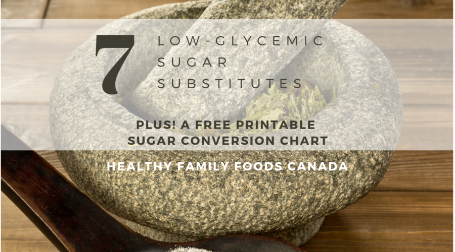 7 Low Glycemic Sugar Substitutes (Plus a printable conversion chart!)