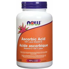 NOW NOW Ascorbic (100% Pure Vitamin C) 454g