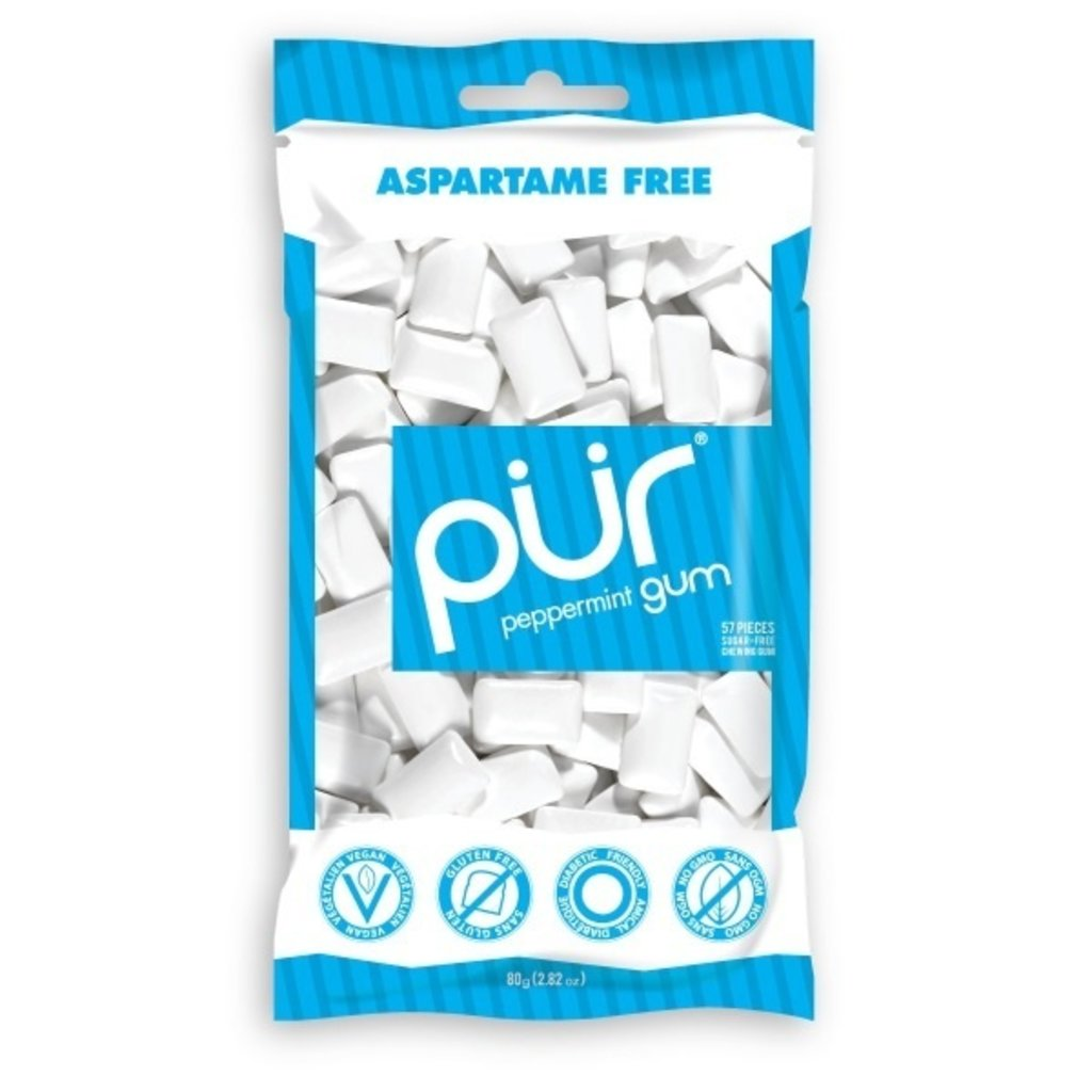 Pur PUR Peppermint Gum Bag 77g (55pcs)