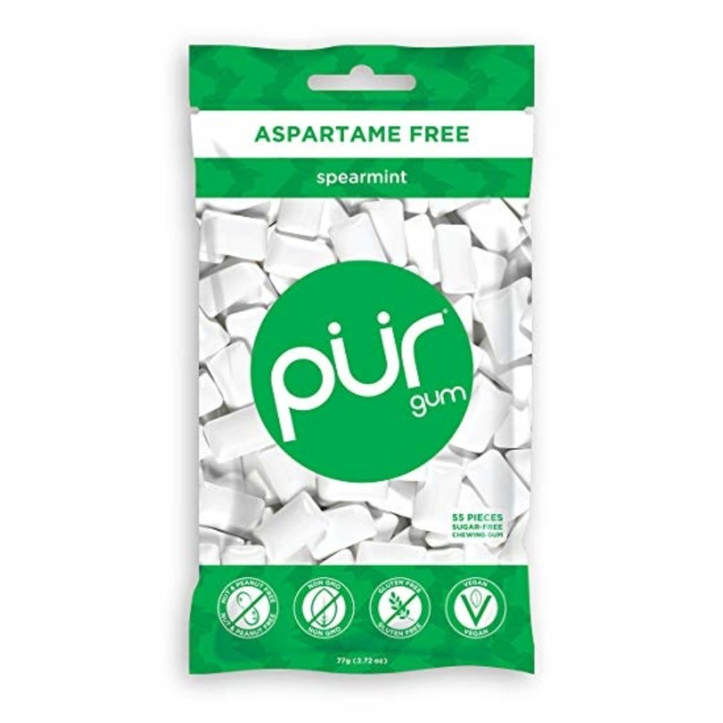 Pur PUR Spearmint Gum Bag 77g (55pcs)
