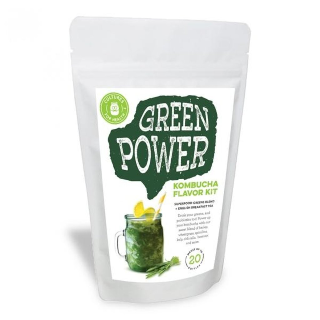 Cultures for Health Green Power Kombucha Flavour Kit