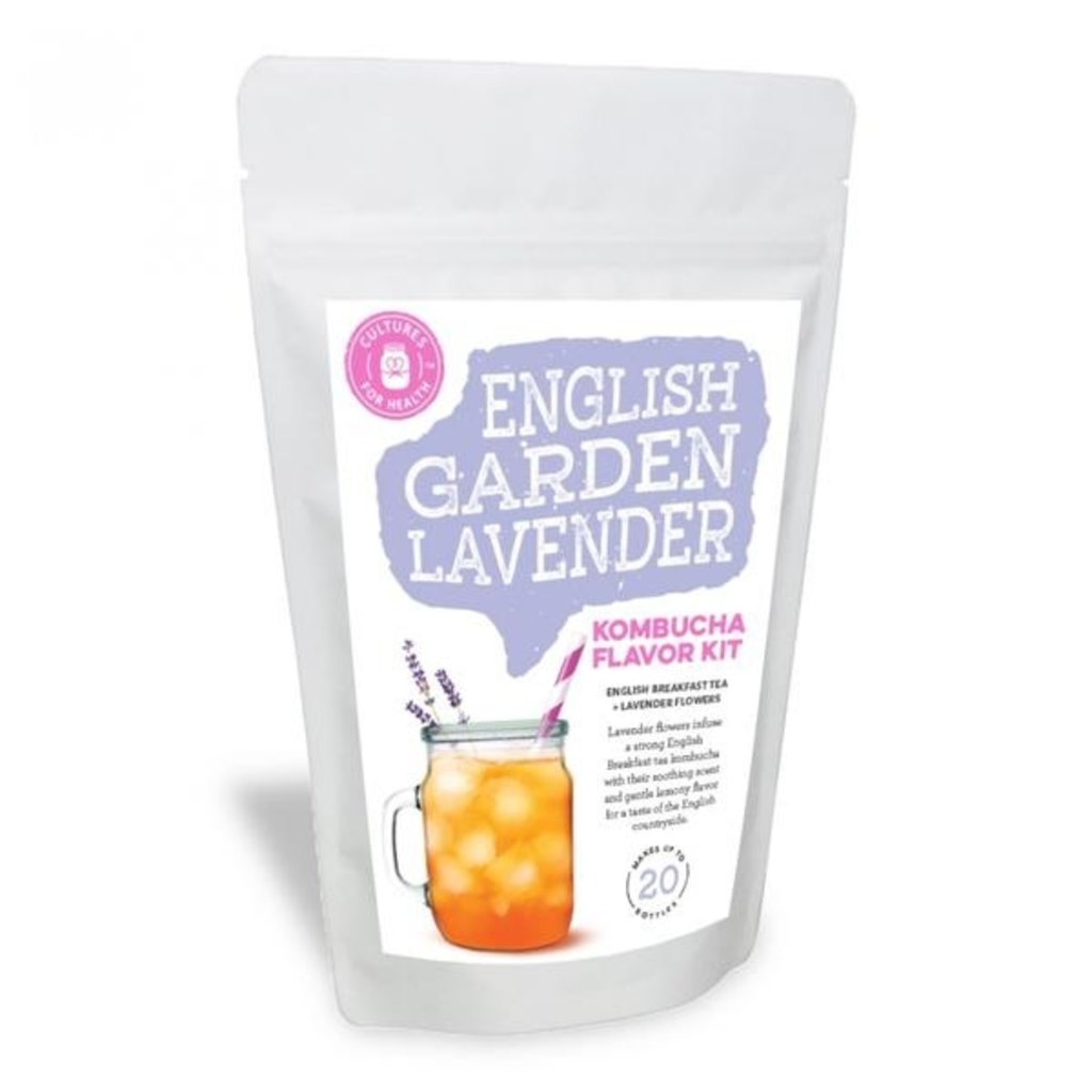 Cultures for Health English Garden Lavender Kombucha Flavour Kit