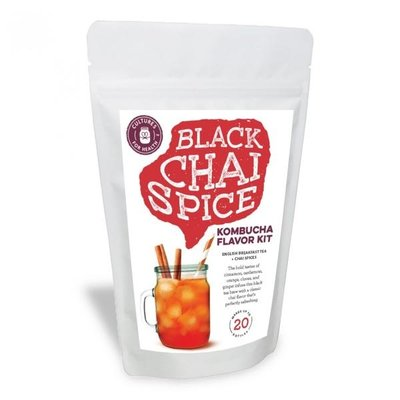 Cultures for Health Black Chai Spice Kombucha Flavour Kit