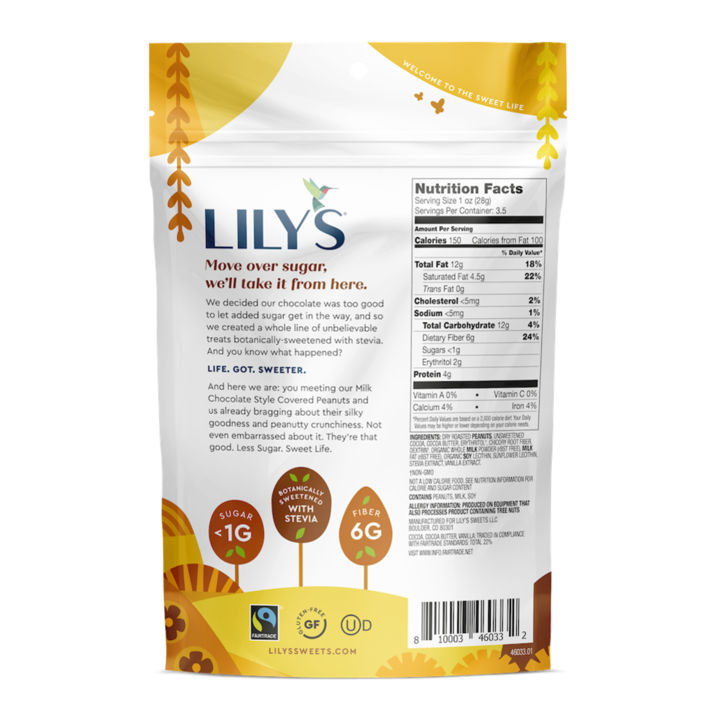 Lily's Sweets Milk Chocolate Covered Peanuts