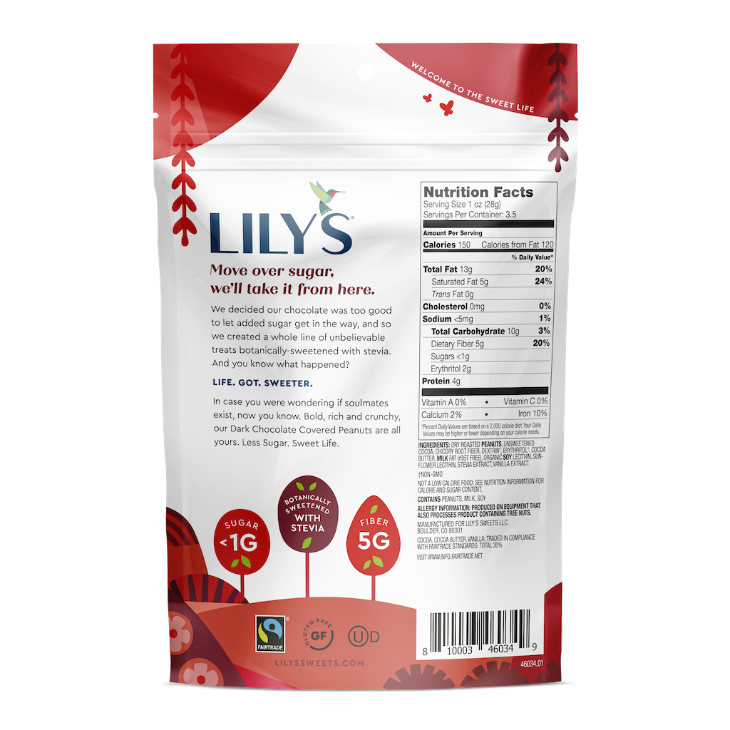 Lily's Sweets Dark Chocolate Covered Peanuts