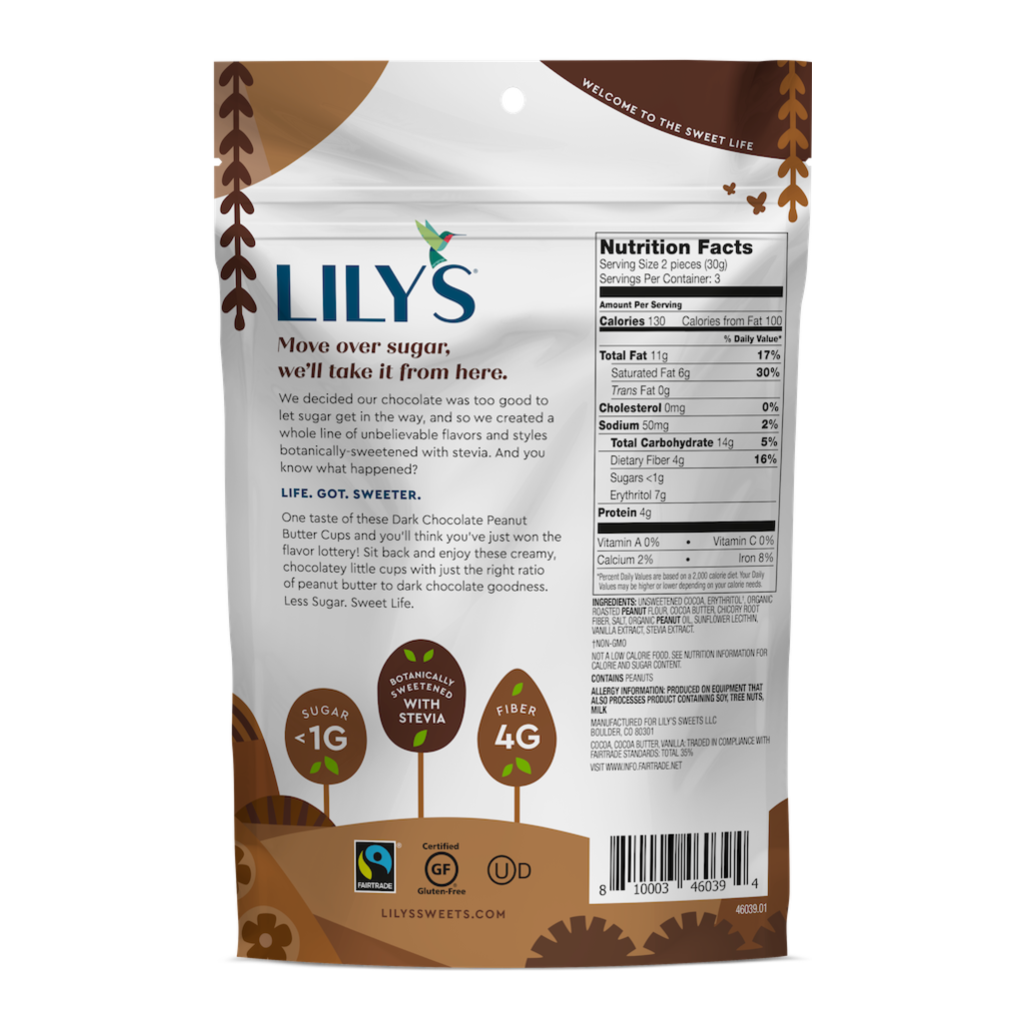 Lily's Sweets Dark Chocolate Peanut Butter Cups