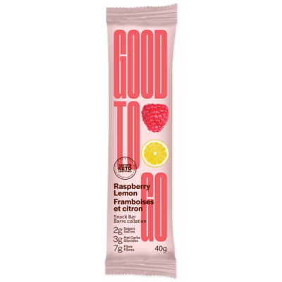 Good to Go Keto Bar - Raspberry Lemon