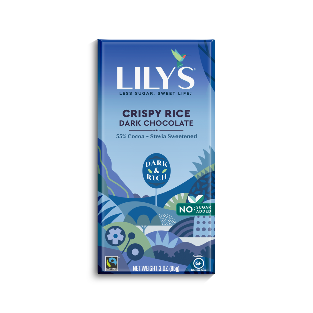 Lily's Sweets Lily's Bar - Crispy Rice Dark Chocolate 55% Cocoa