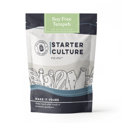 Cultures for Health Soy-Free Tempeh Starter Culture - 4 Packets