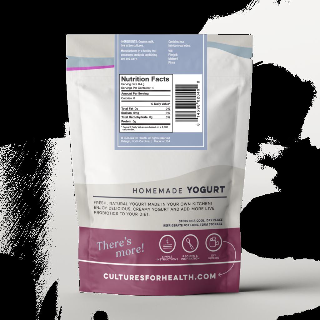Cultures for Health Heirloom Yogurt Starter Culture