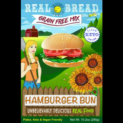 Real Bread California Country Gal Hamburger Bun Baking Mix